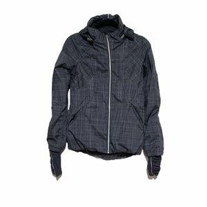 Lululemon Run Hustle Full Zip Jacket Coal Plaid 4